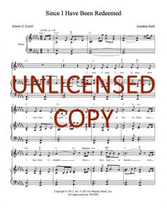 Since I Have Been Redeemed - Piano/Vocal - Printable Download