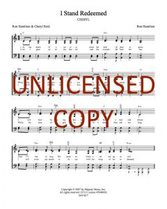 I Stand Redeemed - Hymnal Style - Printable Download
