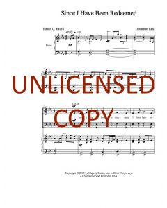 Since I Have Been Redeemed - Choral - Printable Download