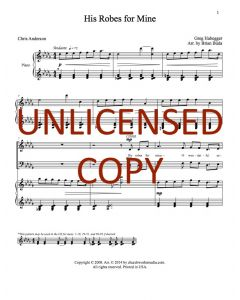 His Robes for Mine - Choral - Printable Download
