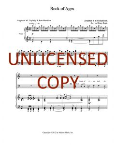 Rock of Ages - Choral Octavo - Printable Download