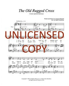 The Old Rugged Cross - Unison (optional harmony) Printable Download