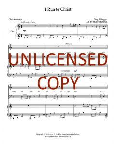 I Run to Christ - Choral - Printable Download