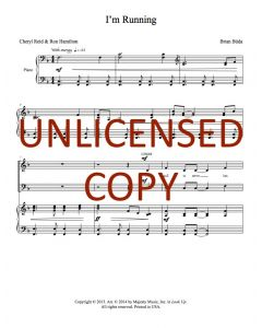 I'm Running - Choral - Printable Download