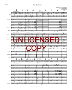 Stay the Course (octavo) - Printable Orchestration - Printable Download