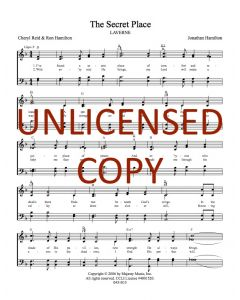 The Secret Place - Hymnal Style - Printable Download