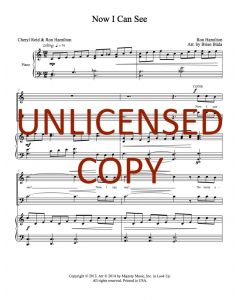 Now I Can See - Choral - Printable Download