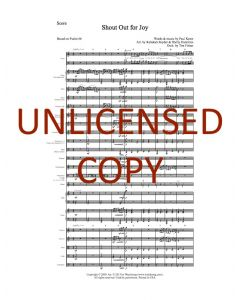 Shout Out For Joy - Choral Octavo Orchestration - Printable Download