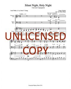 Silent Night - Choral w/ Congregation - Printable Download