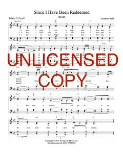 Since I Have Been Redeemed - Hymnal Style - Printable Download