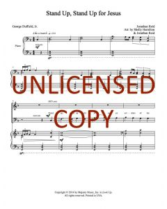 Stand Up, Stand Up for Jesus - Choral - Printable Download