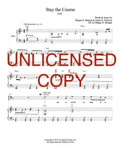Stay the Course (Simply Majesty) - Choral Octavo - Printable Download