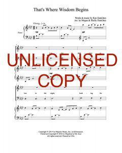 That's Where Wisdom Begins - Choral - Printable Download
