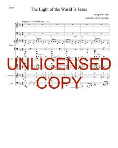 The Light of the World (Simply Majesty Version) - Printable Orchestration - Printable Download