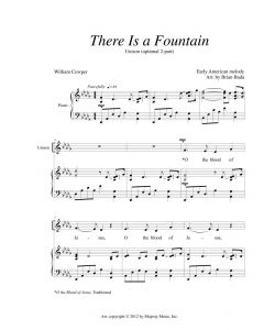 There Is a Fountain - Unison (optional 2-part)