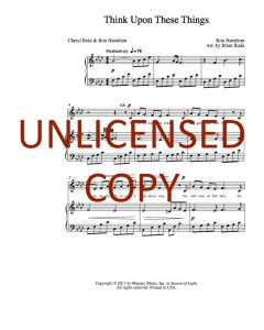 Think Upon These Things - Choral - Printable Download