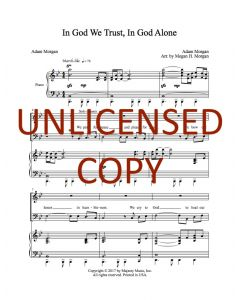 In God We Trust, In God Alone - Choral Octavo - Printable Download