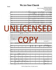 We Are Your Church - Printable Orchestration - Printable Download