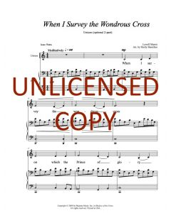 When I Survey the Wondrous Cross - Unison (Optional 2-part) Printable Download