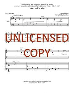 I Am with You - Choral - Printable Download