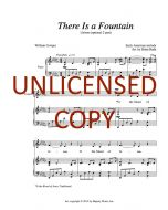 There Is a Fountain - Unison (optional 2-part) Printable Download