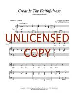 Great Is Thy Faithfulness - Unison (optional harmony) Printable Download