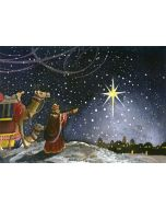 Wisemen Following Star - 20 Holiday Cards and Envelopes