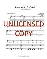 Immortal, Invisible - Unison (optional harmony) Printable Download