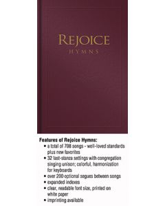 Rejoice Hymns - Burgundy - (Quantity orders must include church name and address.)