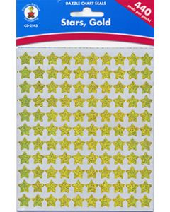 Gold Stars Stickers - (440 per pack) Cannot ship Media Mail.