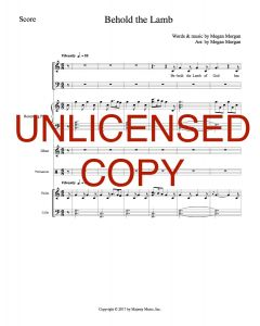 Behold the Lamb - Printable Orchestration - Printable Download