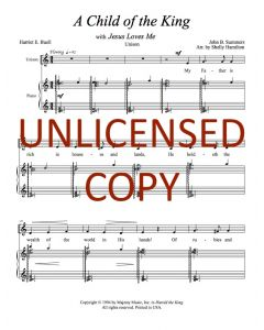 A Child of the King (Jesus Loves Me) - Unison