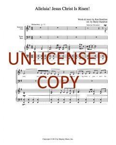 Alleluia! Jesus Christ Is Risen! - Choral Octavo - Printable Download