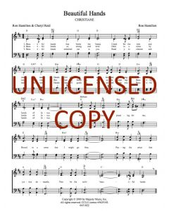 Beautiful Hands - Hymnal Style - Printable Download