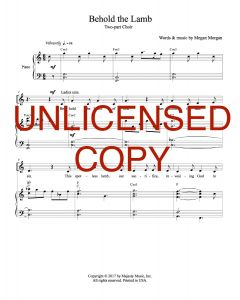 Behold the Lamb - Choral Octavo - Printable Download