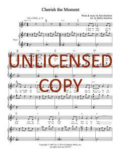 Cherish the Moment - Piano/Vocal - Printable Download
