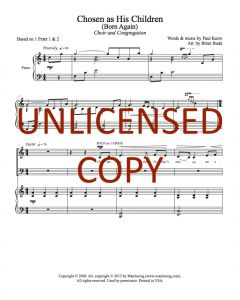 Chosen as His Children (Born Again) - Choral Octavo - Printable Download