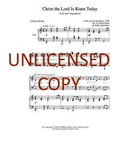 Christ the Lord Is Risen Today - Choral Octavo - Printable Download