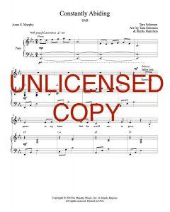 Constantly Abiding - Choral Octavo - Printable Download
