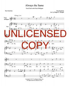 Always the Same - Vocal Duet - Printable Download