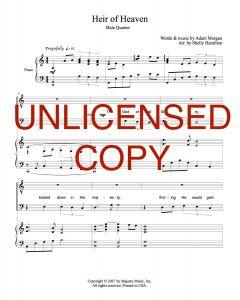 Heir of Heaven - TTBB Men's Arrangement - Printable Download