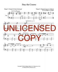 Stay the Course - Choral Octavo - Printable Download