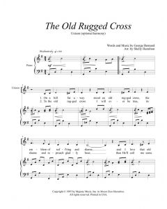 The Old Rugged Cross - Unison (optional harmony)
