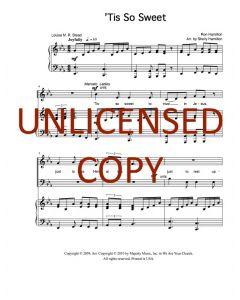 'Tis So Sweet - Choral Octavo - Printable Download