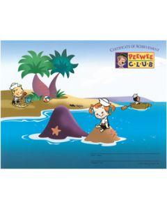 PeeWee Club Award - Beach Certificate (20 Pack)