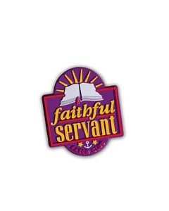 Faithful Servant Pin Award - Cannot ship Medial Mail