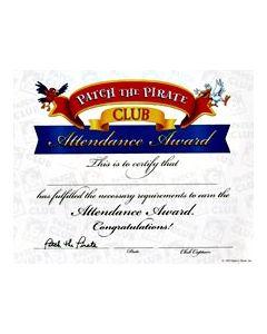 Attendance Award Certificate (20 pk)