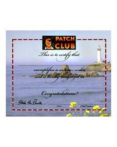 Superior Sailor Certificate (Quantity: 1)