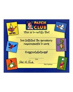 Patch Character Theme Certificate (Quantity: 1)