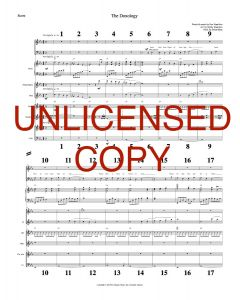The Doxology - Printable Orchestration - Printabe Download